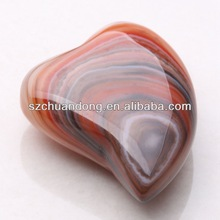2014 Brand New Product/Natural Stone Carving/ Dyed Agate Heart Shape Decorator Piece