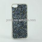 for iPhone 4 Black+Blue Bling Bling Sparkling Diamond Rhinestone case cover