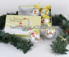colorful,high quality christmas balls christmas ballpoint pen
