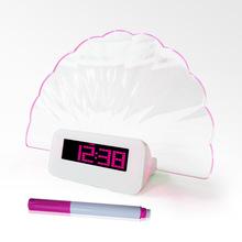 2014 hot sale cheap digital desk clock with highlighter pen