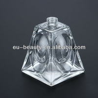 Pyramid shaped glass perfume bottle 100ml