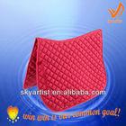 fashionable custom red saddle pads english