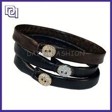 Cinturino in pelle tessitura, cinturino in cuoio cinturino con borchie, bianco bracciali in pelle intrecciata