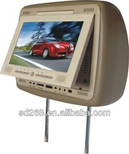 7 inch Car TFT Leather Headrest DVD Monitor LED With Zip Cover