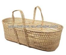 Empty Moses Basket Wicker Bassinet on sale