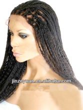 2014 Micro Braided Lace Front Wigs For Black Women