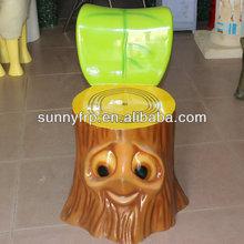 Cute fiberglass cartoon chair