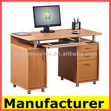 Hot sale morden wooden mobile office computer table/computer desk