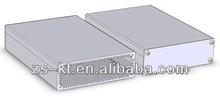 Silver anodized aluminium case