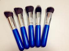 good quality 5pcs synthetic hair powder foundation blush makeup brush set