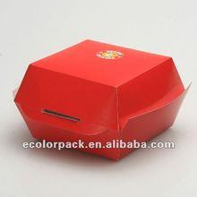 Custom fancy cardboard box for hamburger,EP157,ISO9001:2000(ISO9001:2008), 8S, ERP