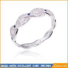mirco pave ring small zircon girl love ring