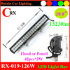 Hot CE ROHS 126w 9-32v offroad driving cre led light bar ip68
