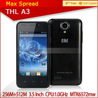 3.5 Inch small size touch screen phone THL A3 Android 4.2 WIFI GPS 3G yestel mobile phone