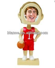 NBA basket photo bobble head photo holder