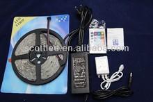 12v led strip 5050 smd led datasheet + IR 24key led controller + AC adapter 5050 smd led strip set, led strip kit 5050 smd