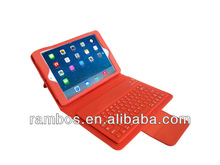 Tablet Wireless Bluetooth Keyboard Leather Case for iPad Mini 2 with Stand