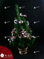 pulgadas 24 fábrica en maceta de rosa de color rosa decorado del árbol de navidad
