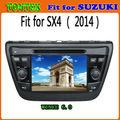 2 din pantalla táctil del gps del coche de radio para suzuki sx4 2014