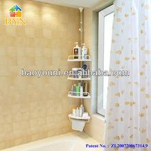 BAOYOUNI bathroom corner rack metal & pp bathroom corner rack DQ-601D r1