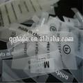 tpu siebdruck bedruckte etikett für kleidung hosen