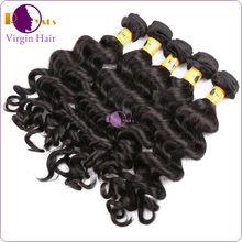 Natural wave peruvian hair, hot remy virgin hair, natural curly hair weave
