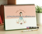 Table Top Foldable Personalized Art Printing Standing Calendar