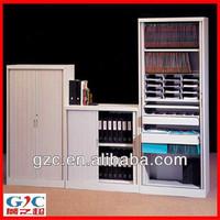 Two Tambour Aluminum Door Office Lockable Filing Cabinet