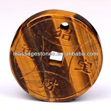 Hot Sale Fashional Yellow Tiger Eye Donut Hole Pendants as Gift & Decoration Wholesale