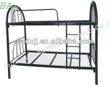Black silver sturdy metal bunk beds frame