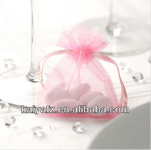 Strong sheer drawstring organza pouch wedding favor gift candy bag