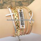 Fashion leather bracelet jewellery uk