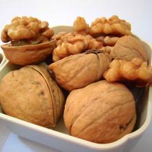 green natural shelled walnuts