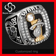 hot sale 2012 Miami Heat N.B.A. World Championship ring 14K Gold & Diamond Real Ring