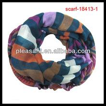 fashion stripe tube infinity scarf 2014