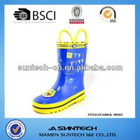 Western transparent rubber rain boots for kids
