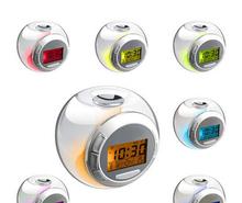 2014 Hottest 7 color change led digital lcd alarm clock,china manufacture supply 7 color change led digital lcd alarm clock