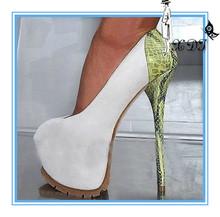 16cm platform white high heels women dress shoes with heels 2014