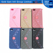Luxury Shoulder Chain Bag Style Silicone Case Cover For iPhone 4g