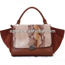 European classical vintage style SNAKE skin five colors women fashion genuine leather handbags bag