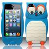 FOR APPLE IPHONE 5S BLUE CARTOON OWL TPU GEL SKIN CASE COVER