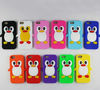 Penguin Silicone Mobile Phone Case for iPhone 5 for iPhone 4 Cell Phone Protective Case Cover Mobile Phone Pouch Wholesale Price