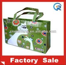 cheap logo shopping tote bags/laminated non woven bags/gift bag