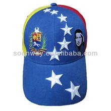Made in China lovely wholesale sports acrylic sandwich 6 panel venezuela cap