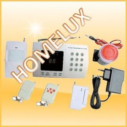 Cheap!!!LCD display/keypad/voice prompt PSTN dialer alarm with 433Mhz wireless frequency