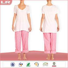 100% Cotton Ladies Long Leg Pajamas Sets