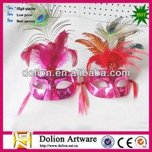 2014 cheap feather masquerade mask