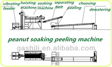 Factory price 400kg/h Peanut soaking peeling making line