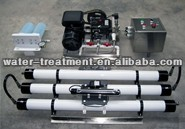 Skid seawater desalination system for shipping boats, yatchs, islands drinking water purification