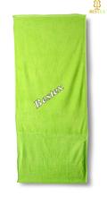 Terry Cotton Woven Pocket Summer Green Cute Cheap Solar beach bag